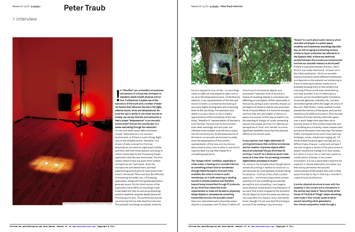 Interview in Neural Magazine